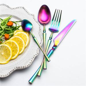 4pcs Azure Dragon Rainbow Cutlery Set