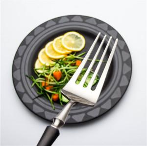 4pcs Azure Dragon Silver with black  Cutlery Set