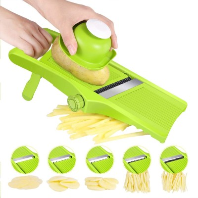 LEKOCH 3-in-1 Adjustable Vegetable Slicer With Stainless Steel Blades