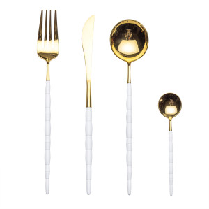 4pcs Joint Platinum Cutlery Set