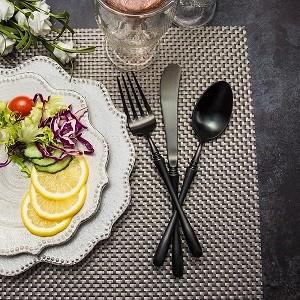 4pcs Luxurious Series Pure black  Cutlery