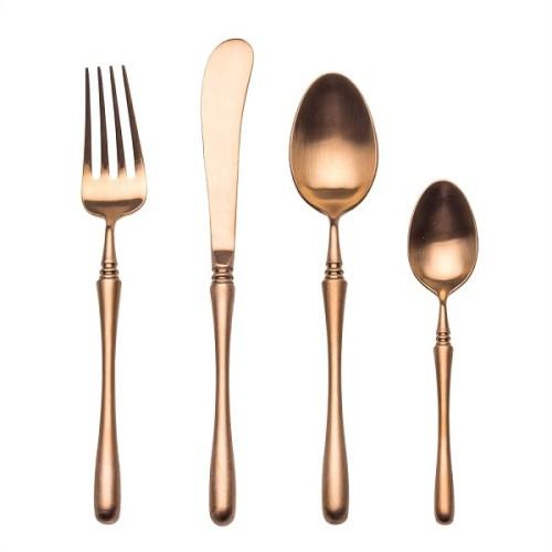 4pcs Luxurious Series Rosegold Cutlery
