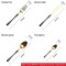 4pcs Luxurious Series black gold Cutlery