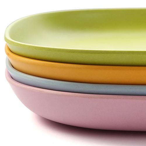Lekoch Eco Friendly 4 Colors Bamboo Tableware Set Dinner Plates