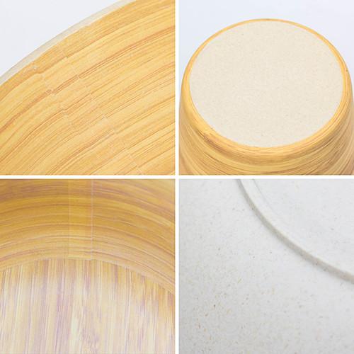 Lekoch Biodegradable & Eco Friendly Bamboo Fiber Dinnerware Set Tableware 4pcs