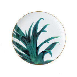 Lekoch Ceramic Plate Handcraft Leaf Gold Inlay Porcelain Dinner Plate Dinnerware --Leaf A