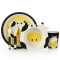 Lekoch Bamboo Kids Plates Dinnerware Set Cartoon kids Feeding Toddler Tableware 5 PCS