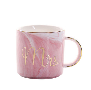 Lekoch Pink Ceramic Mug Bone China Cup Handgrip Milk Cup