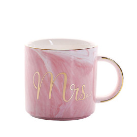 Lekoch Cylindrical Pink Ceramic Mug With Handgrip