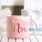 Lekoch Pink Ceramic Mug Bone China Cup Handgrip Milk Cup