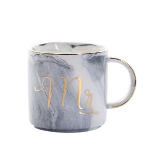 Lekoch Blue Ceramic Mug Bone China Cup Handgrip Milk Cup