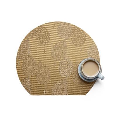 Lekoch 4Pcs Placemat Waterproof PVC Dining Table Mat Bowl Pads Leaf Design
