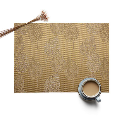 Lekoch Brown Placemat Waterproof PVC Dining Table Mat