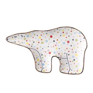 Lekoch Polar Bear Ceramic Kids Plates Porcelain Dinner Plate Cute Dinnerware