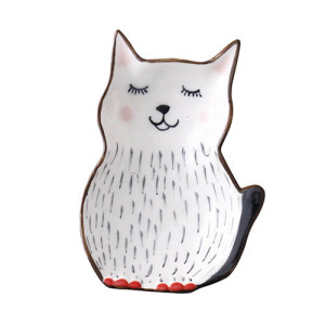 Lekoch Cat Ceramic Kids Plates Porcelain Dinner Plate Cute Dinnerware