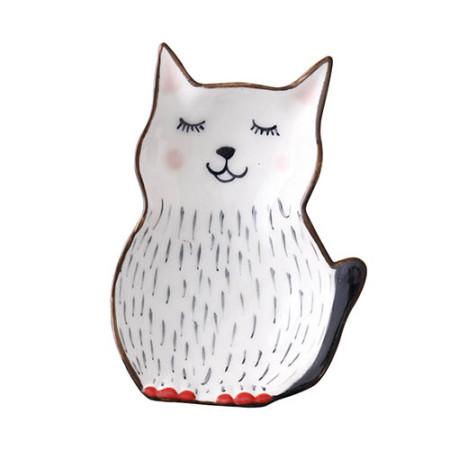 Lekoch Cat Ceramic Kids Plates Porcelain Dinner Plate Cute Dinnerware
