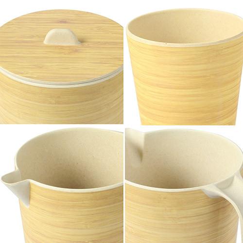 Lekoch Eco Friendly Bamboo Fiber Drinkware Set