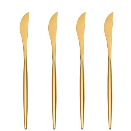 LEKOCH 4PCS Dinner Knifes Set Gold 18/10 Stainless Steel