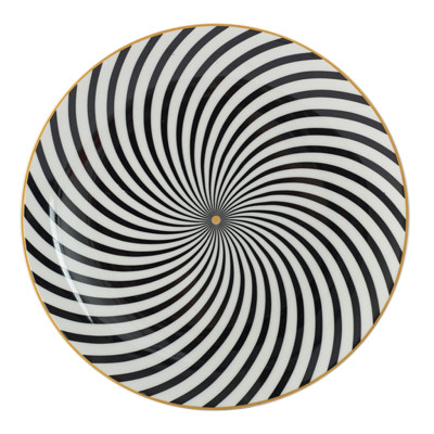 Lekoch Bone China Geometric Thread Dinner Plates - 26cm