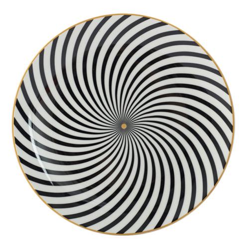 Lekoch Bone China Geometric Thread Dinner Plates - 26cm