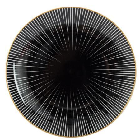 Geometrische Speiseteller aus Bone China von Lekoch - 26 cm