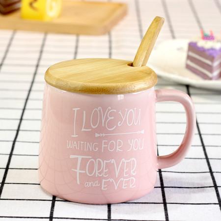Lekoch Pink Ceramic Cup Milk Juice Mug Coffee Tea Cups