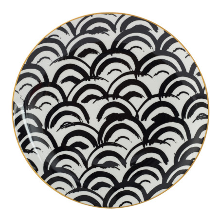 Lekoch Bone China Geometric Dinner Plates - 26cm