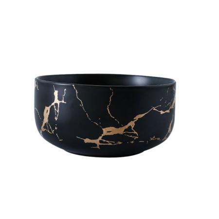 Lekoch Marble Style Ceramic Bowl - 450ml