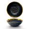 Lekoch Matte Gilt-edged Black Ceramic Bowl - 1350ml