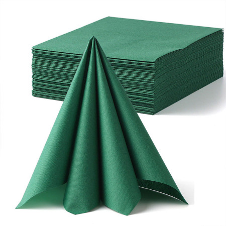 Lekoch 2-Ply Air-laid Disposables Paper Napkins in Green 50PCS