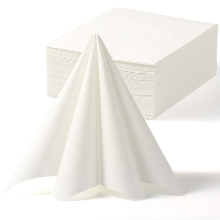 Lekoch 2-Ply Air-laid Disposables Paper Napkins in White 50PCS