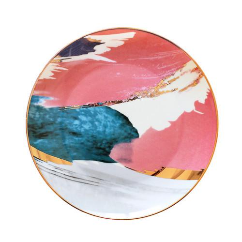 Lekoch Watercolor Painting Cloud Ceramic 10 inch Plate