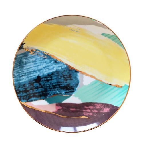 Lekoch Watercolor Painting Cloud Ceramic Plate