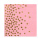 Lekoch Air-laid Disposables Paper Pink with Gold Dots Napkins 50PCS