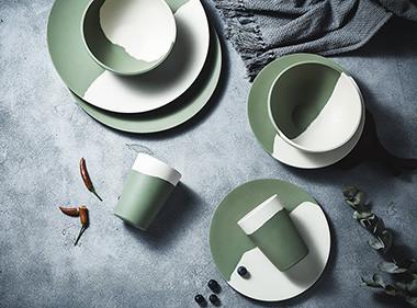 bamboo fibre Plates set