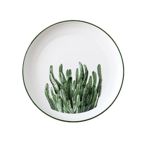 Lekoch Nordic Style Plate Ceramic Dinner Plates 8 inches--Leaf E