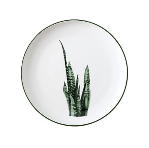 Lekoch Nordic Style Plate Ceramic Dinner Plates 8 inches--Leaf D