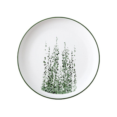 Lekoch Nordic Style Plate Ceramic Dinner Plates 8 inches--Leaf C