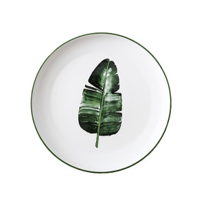 Lekoch Nordic Style Plate Ceramic Dinner Plates 8 inches