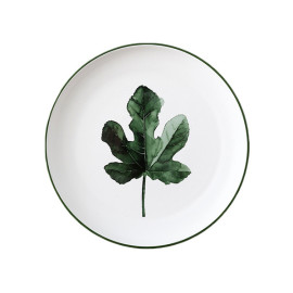 Lekoch Nordic Style Plate Ceramic Dinner Plates 8 inches-Leaf A