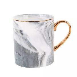 Lekoch Gold Blue Keramiktasse Kaffeetasse Milch Tassen
