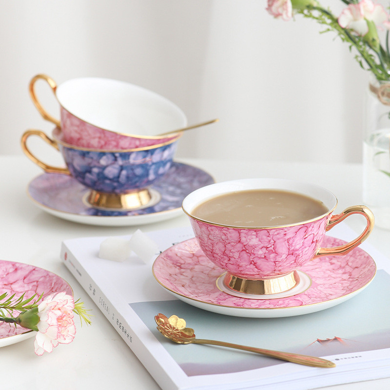 bone china teacup saucer set