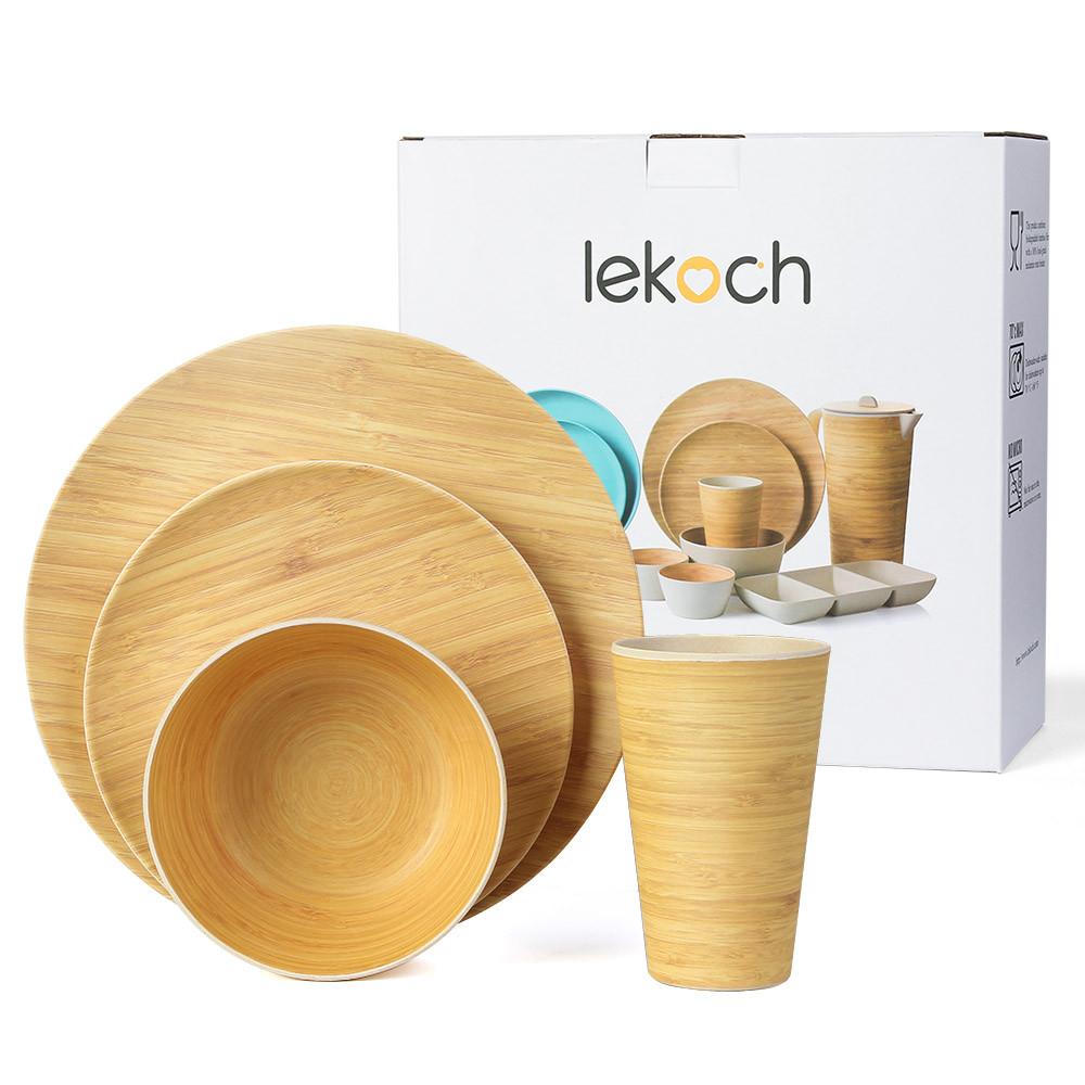 bamboo fiber tableware set