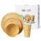 Lekoch Biodegradable & Eco Friendly Bambusfaser Geschirr Set Geschirr 4tlg