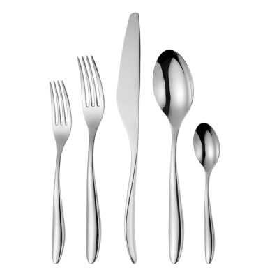 LEKOCH 5 PCS Classical Silver Flatware Set Stainless Steel Cutlery