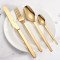 Lekoch Mirror Polish Gold Flatware set of 4