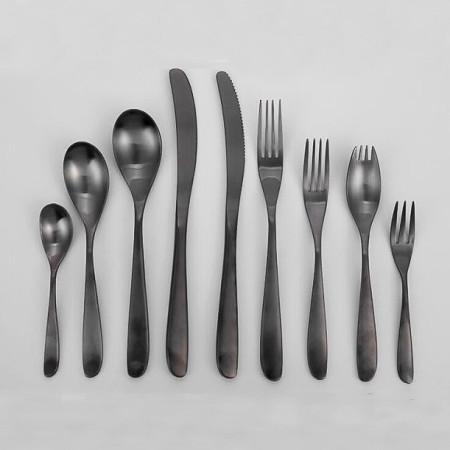 Lekoch Black Stainless Steel Cutlery Set Wholesale