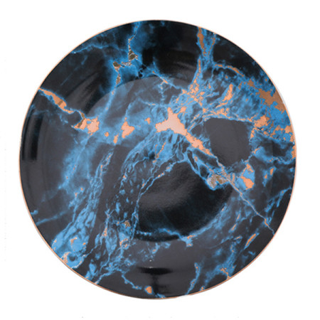 Lekoch Marble Plate Ceramic Dinner Plates
