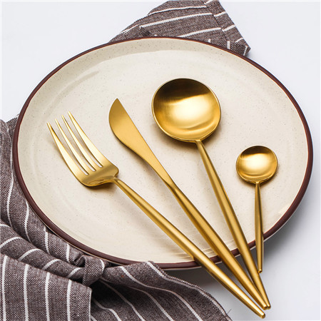 LEKOCH 4 PCS 18/10 Stainless Steel Flatware Set Portugal Classical GOLD