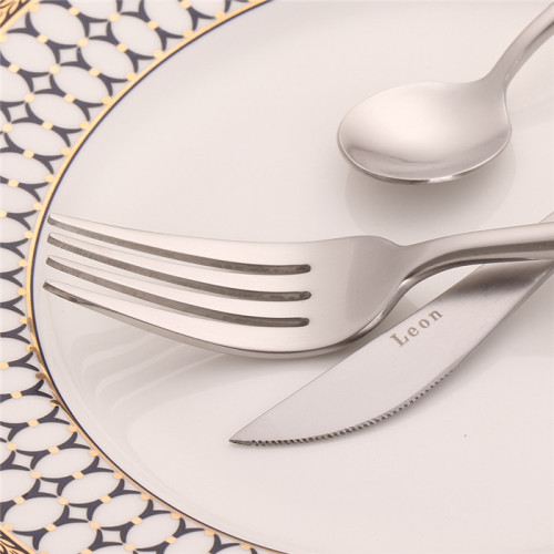 LEKOCH 4 PCS 18/10 Stainless-steel Flatware Set Portugal Classical SILVER